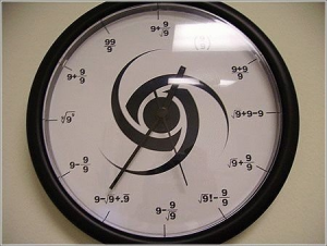 Another math clock